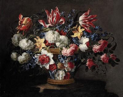 Flores en una cesta